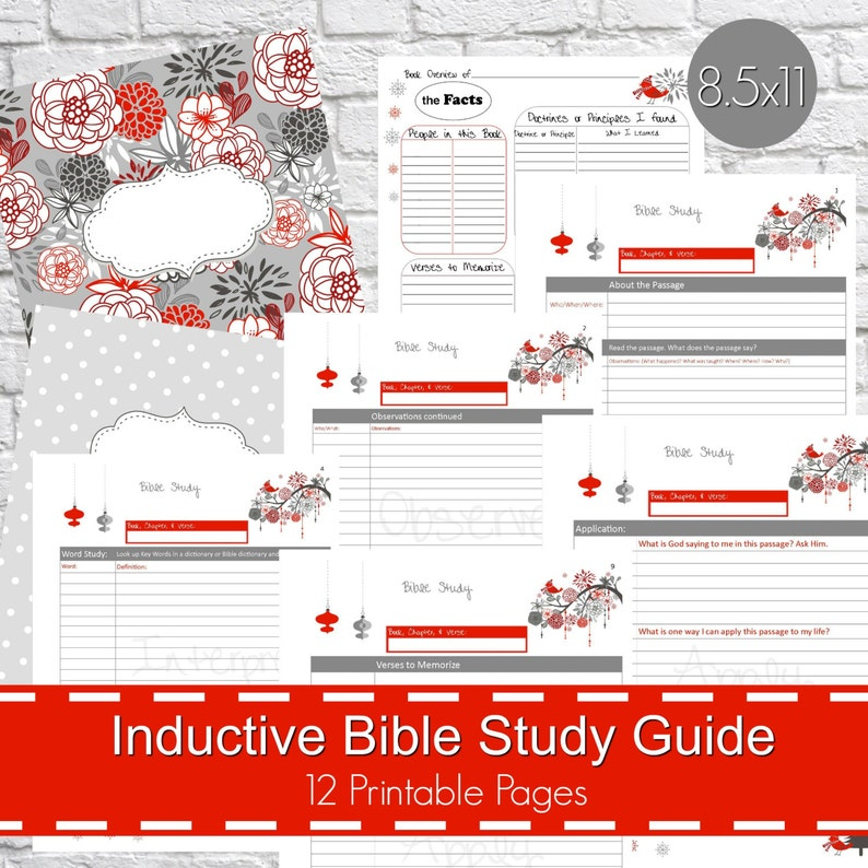 photograph relating to Printable Bible Study Guides known as Inductive Bible Analyze Direct Printables PDF, Christian bible investigation, bible magazine, devotional lead, bible analysis planner - Wintertime Concept