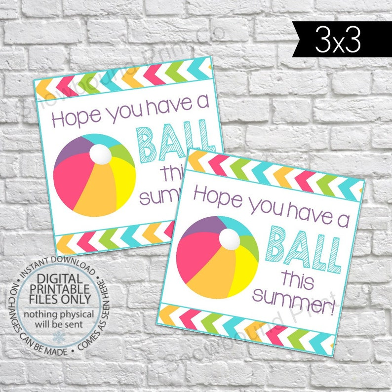 image regarding Have a Ball This Summer Printable referred to as Assume By yourself Contain a Ball This Summer months Tag, Finish of University Yr Tag, Conclusion of Yr Handle Tag, Printable Close of 12 months Want Tag, Small children Tags for college or university