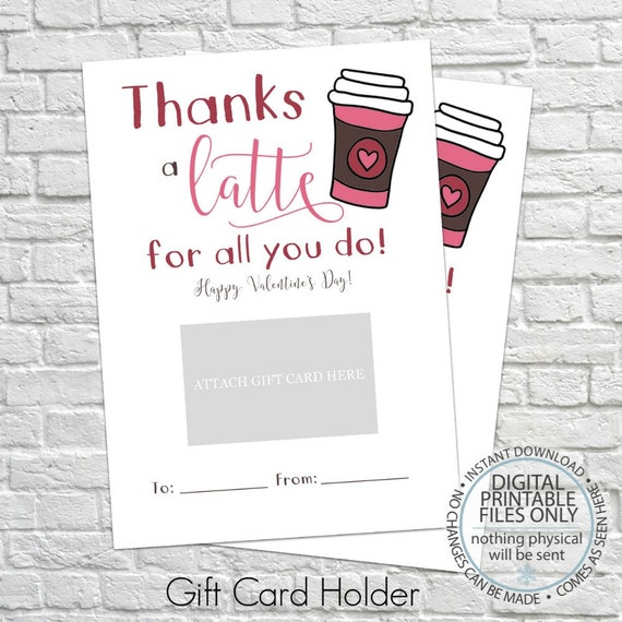 Valentines Day Gift Card Holder Thank You Gift Card Etsy