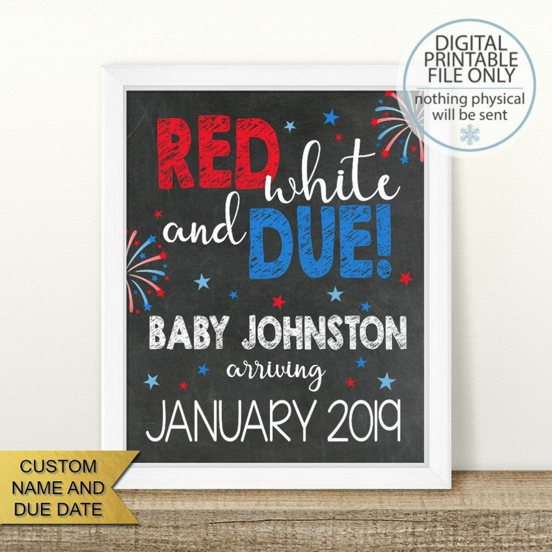 image regarding Closed for Memorial Day Printable Sign named Pink White and Thanks, PRINTABLE Memorial Working day, 4th of July Being pregnant Announcement, Chalkboard Indicator, Being pregnant Describe, Photograph Prop, fourth of july