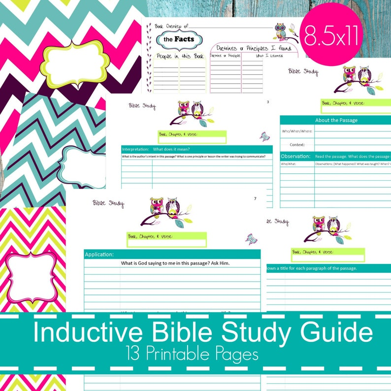 photograph relating to Printable Bible Study Guide titled Inductive Bible Analyze Direct, Printable Bible Analysis, Bible Printables, Bible Research Notes, bible journaling, bible investigate magazine - Owl Topic