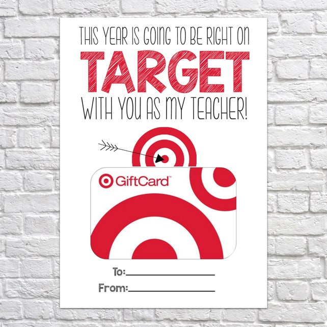 image about Printable Target Gift Card titled Printable Trainer Present, Immediately upon Concentrate, Reward Card Holder