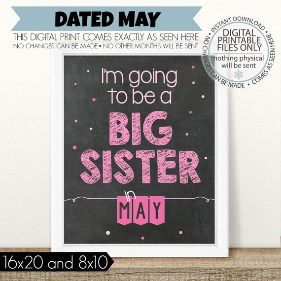 PRINTABLE Big Sister Pregnancy Announcement Im Going To