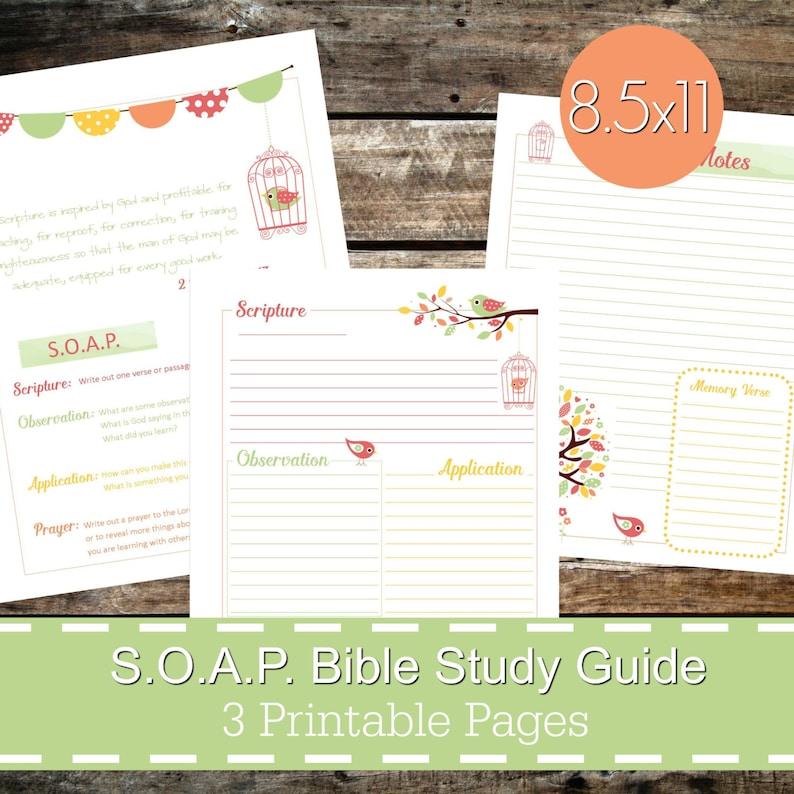 S O A P  Bible Study Guide Printables PDF, SOAP Christian Bible Study,  Bible journal, devotional guide, bible study planner - Bird Theme