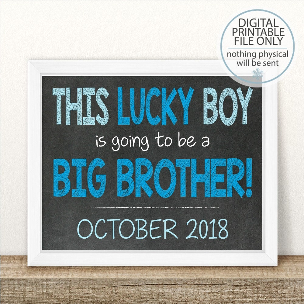 PRINTABLE Pregnancy Announcement Big Brother Announcement | Etsy