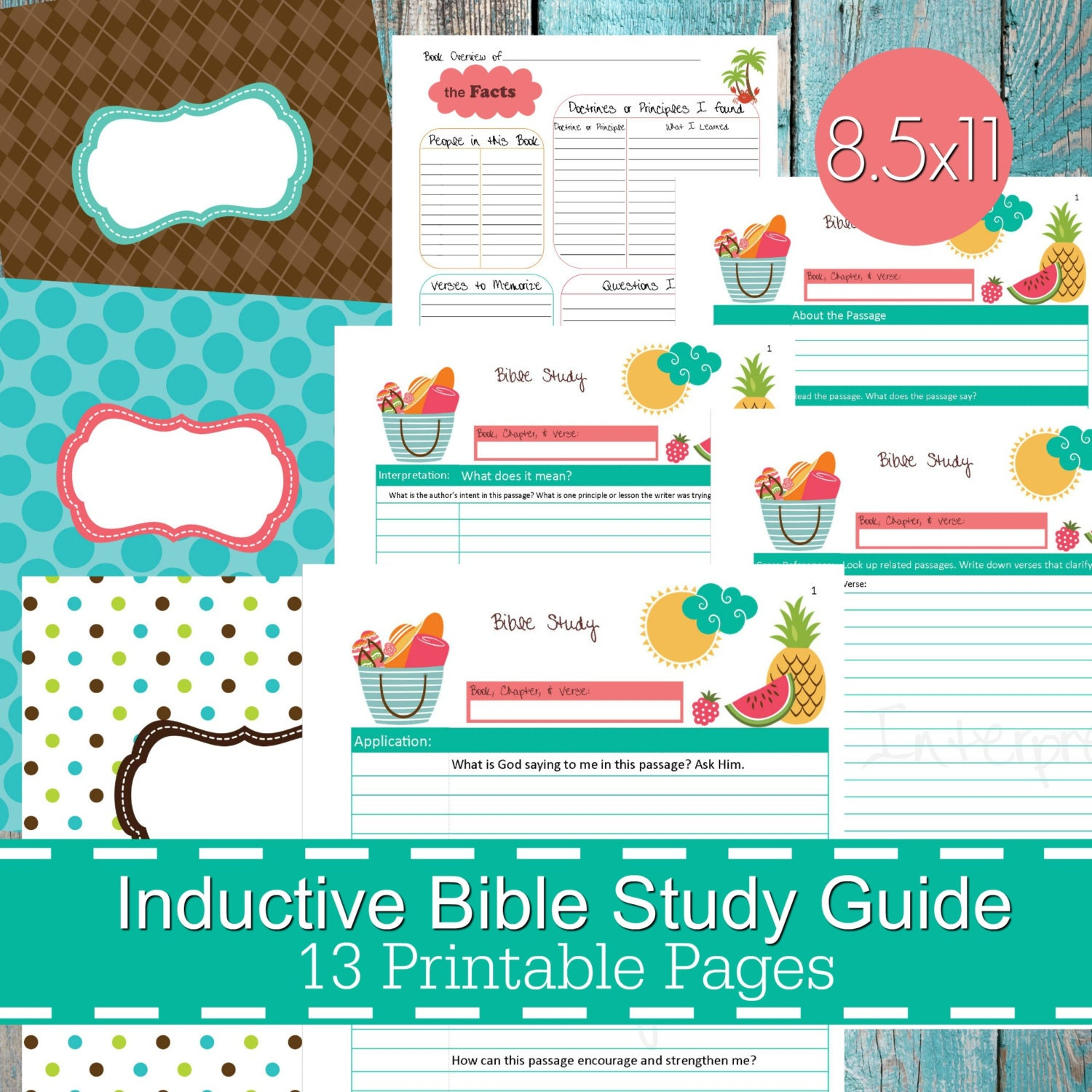Inductive Bible Study Guide Printables PDF Christian bible | Etsy