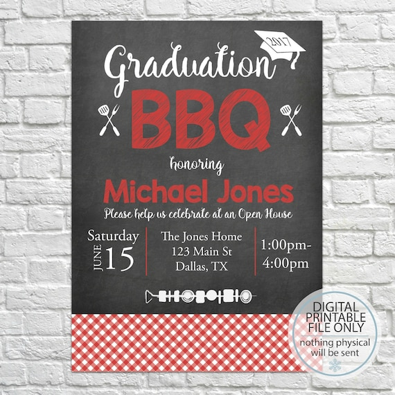 graduation open house invitation graduation bbq graduation etsy