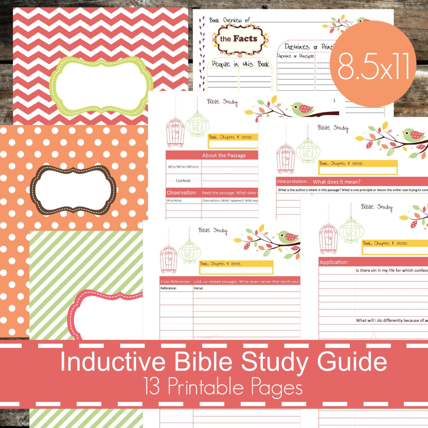 photo about Printable Bible Study Guides titled Inductive Bible Exploration Marketing consultant Printables PDF, Christian bible review, bible magazine, devotional specialist, bible investigation planner - Chook Concept