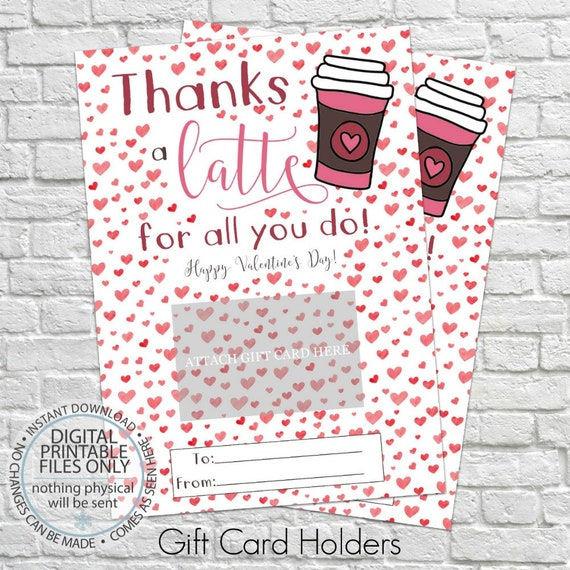 Valentine S Day Gift Card Holder Printable Gift Card Etsy