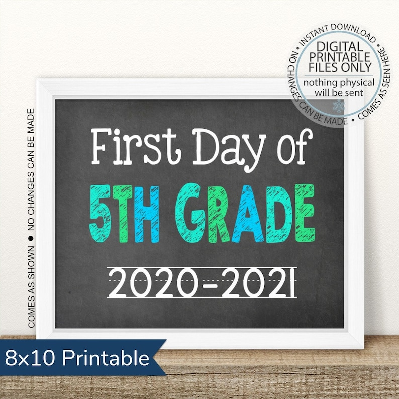First Day of Fifth Grade 2020-2021 First Day of School image 0