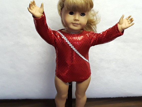 NEW and Blue Gymnastic Doll Leotard fits American Girl Doll Patriot Red White