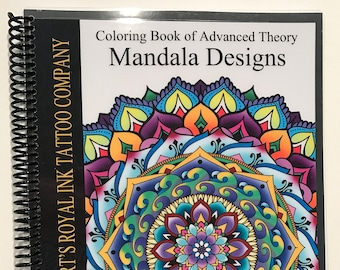 Advanced Theory Mandala Coloring Book Laser Printed Spiral Bound 8 1 2 X 11