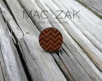 Laser Cut Wood Pin-Waves