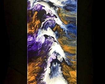 "Dub 48 -  40"" x 16"" Automotive Paint & Resin on Canvas"