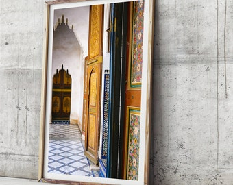 Morocco Art Print - Bahia Palace In Colour, Photo Prints, Photographic Wall Art, Moroccan Decor, Photographic Print, Travel Photo, Art Print