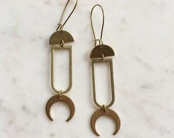 Geometric Brass Earrings