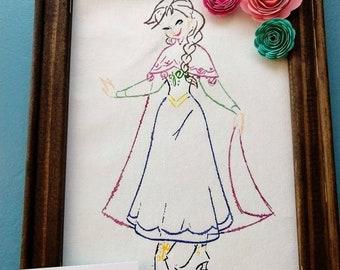 Princess Anna Canvas Painting