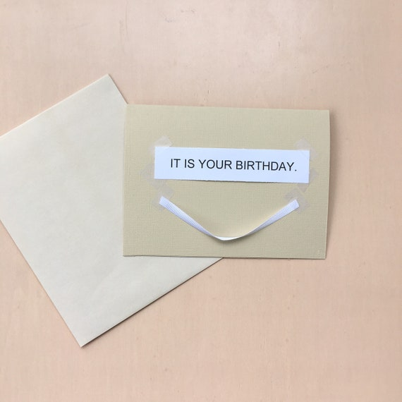 It Is Your Birthday The Office Inspired Birthday Card Etsy