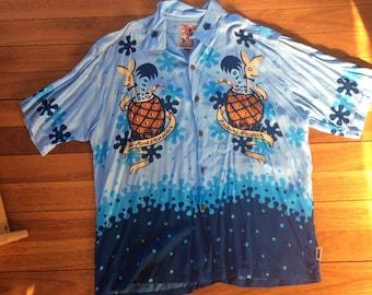 Medium SURF RARA MAMBO Loud Camicia Hawaiana Australiano POP ART