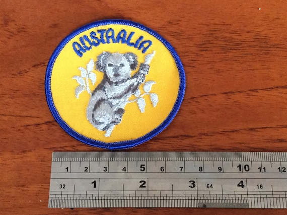 "Koala Crossing Sign~Australia~Embroidered Patch~2 1//2/"" x 2 1//2/""~Iron Or Sew"