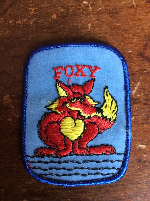 """Vintage embroidered patch """"FOXY"""" for the FOXY lady"""