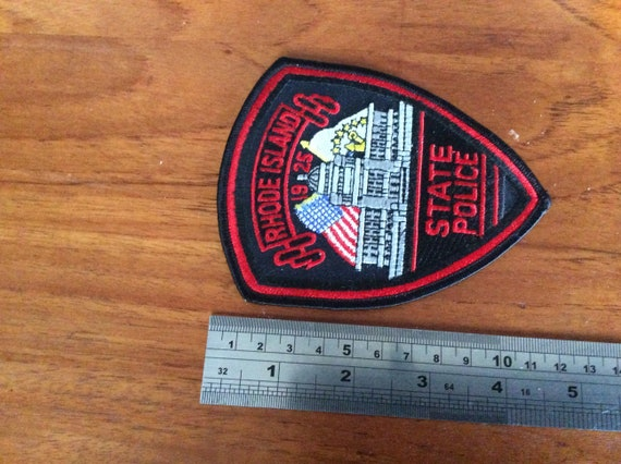 Vintage Rhode Island state police embroidered patc