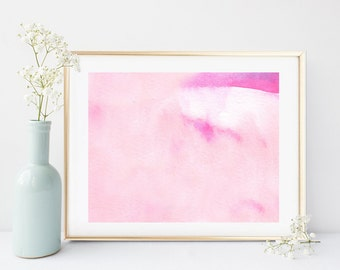 Pink Abstract Art, Pink Abstract Painting, Printable Art, Watercolor Abstract, Wall Decor, Wall Art, Modern Art, Instant Download