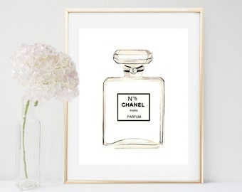 Chanel Print, Chanel Bottle, Coco Chanel, Printable Art, Fashion Print, Bedroom Decor, Wall Art, Perfume Bottle