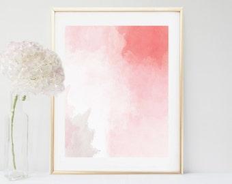 Art Print, Pink Abstract Painting, Abstract Print,  Printable Art, Modern Art, Instant Download, Modern Wall Art,  Wall Decor, Home Decor