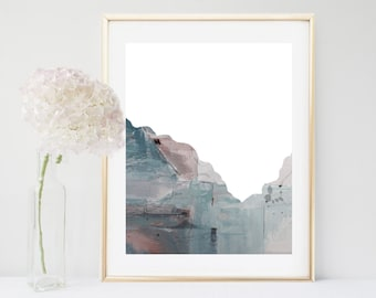 Abstract Mountain, Art Print, Grey Wall Art, Printable Art, Abstract Art, Home Decor, Grey Wall Decor, Contemporary Art, Digital Download