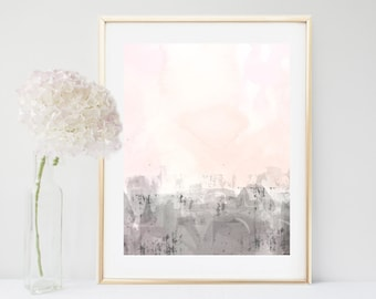 Abstract Art,  Printable Art, Pink Grey Wall Art,  Instant Download,  Home Decor, Wall Decor, Gallery Wall Prints