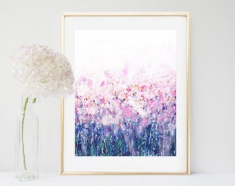 Art Print, Pink Abstract Painting, Abstract Print,  Printable Art, Modern Art, Instant Download, Pink And blue Wall Art,  Wall Decor