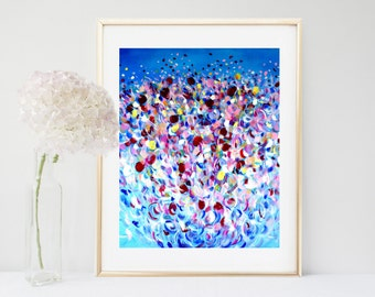 Abstract Art, Abstract Painting, Abstract Print, Printable Art, Blue Wall Art, Modern Art, Instant Download, blue Wall Art,  Wall Decor