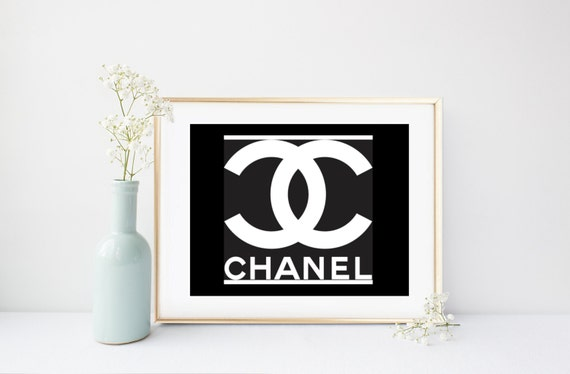 image relating to Printable Chanel Logo named Chanel Indication, Printable Artwork, Chanel Symbol, Type Print, Coco Chanel Print, Wall Decor, Electronic Obtain, Bed room Decor
