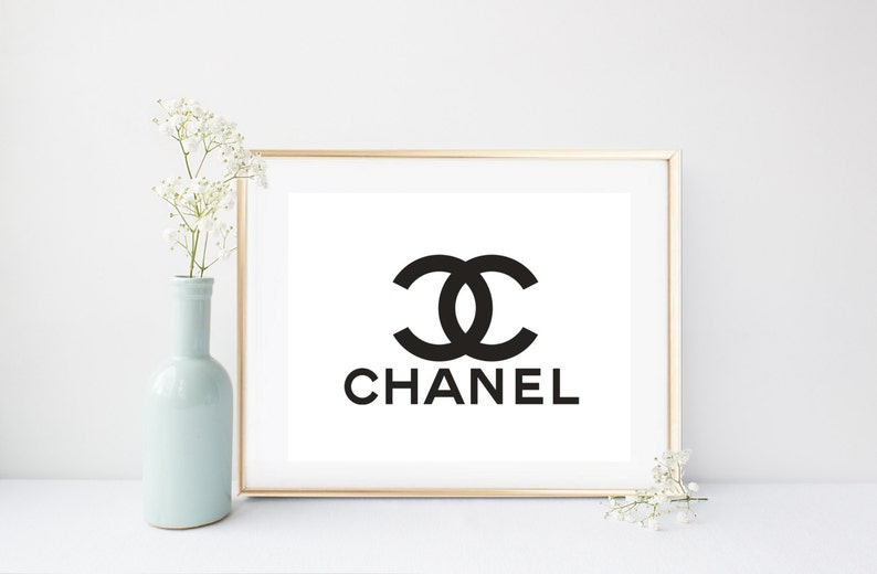 picture regarding Printable Chanel Logo titled Coco Chanel Print, Printable Artwork, Chanel Brand, Coco Chanel Brand, Design and style Print, Instantaneous Down load, Gold Wall Artwork, Bed room Decor