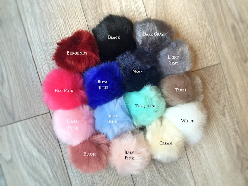 Faux fur Pom Pom keychains furry key chains large fur balls  a989ddfb73fb
