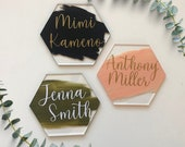 Wedding Place Cards, Event Seating Chart, Acrylic Hexagon Name Cards
