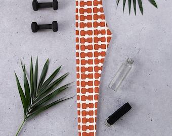 Orange Bowties Leggings