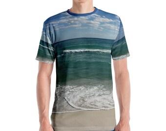 Beach All-Over Print Men's Crew Neck T-Shirt