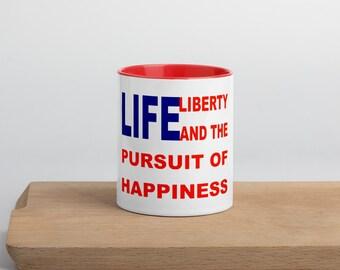 Happiness Mug with Color Inside
