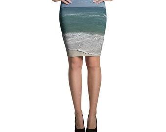 Beach Pencil Skirt