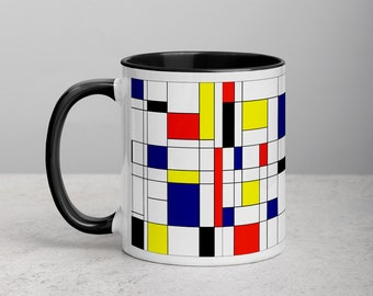 Mondrian Multi Mug with Color Inside