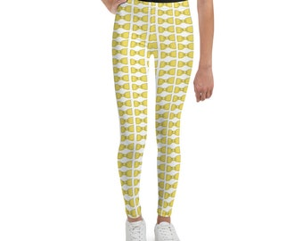 Yellow Bowties Youth Leggings