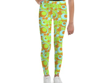 Mod Circles and Squares Youth Leggings