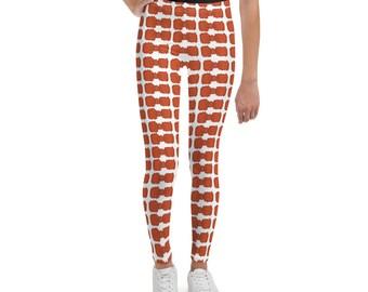 Orange Bowties Youth Leggings