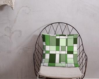 Mondrian Green Basic Pillow
