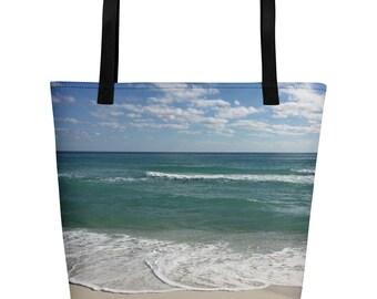 Beach Print Beach Bag