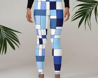Geometric Blue Leggings