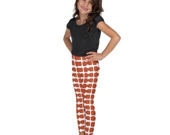 Orange Bowties Kid's Leggings