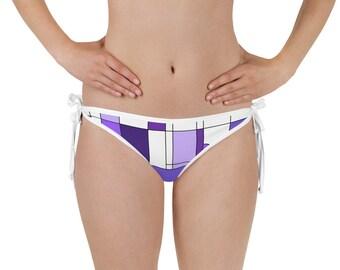 Mondrian Purple Bikini Bottom